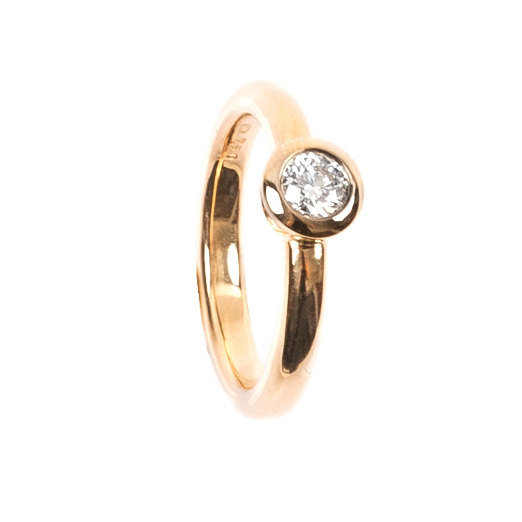 0,35CT Diamant Ring G/VSI