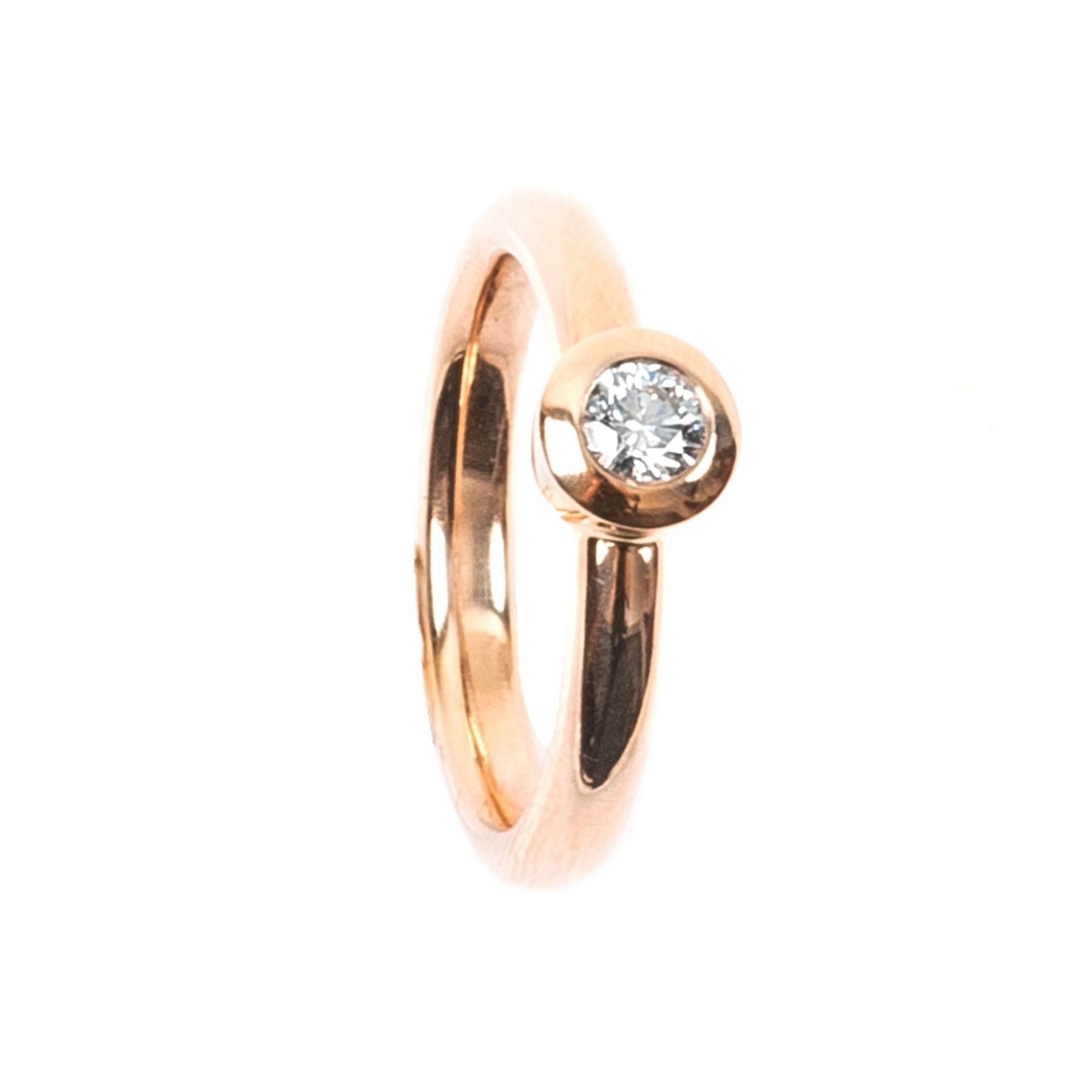0,24CT Diamant Ring TW/VSI