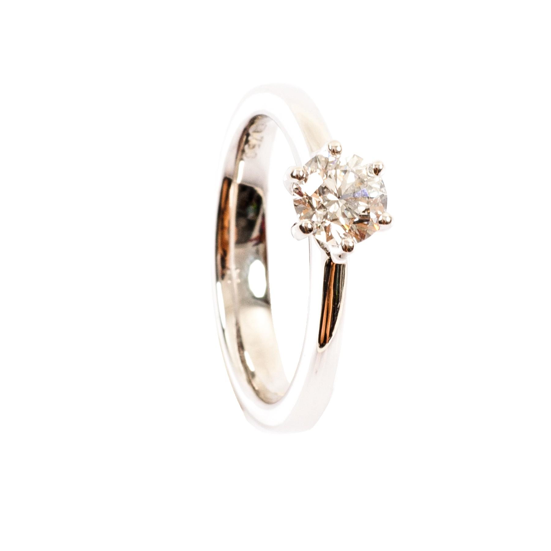 0,74CT Diamant Solitär Ring TW/VSI