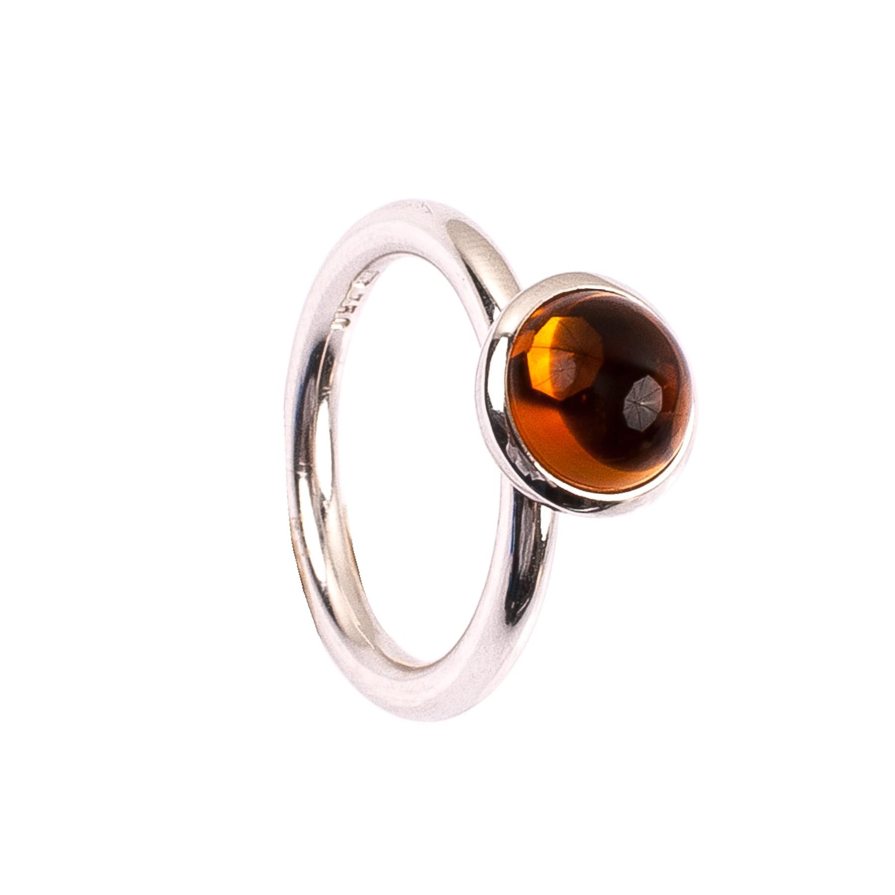 2,14CT Citrin Orange Kuppel Ring