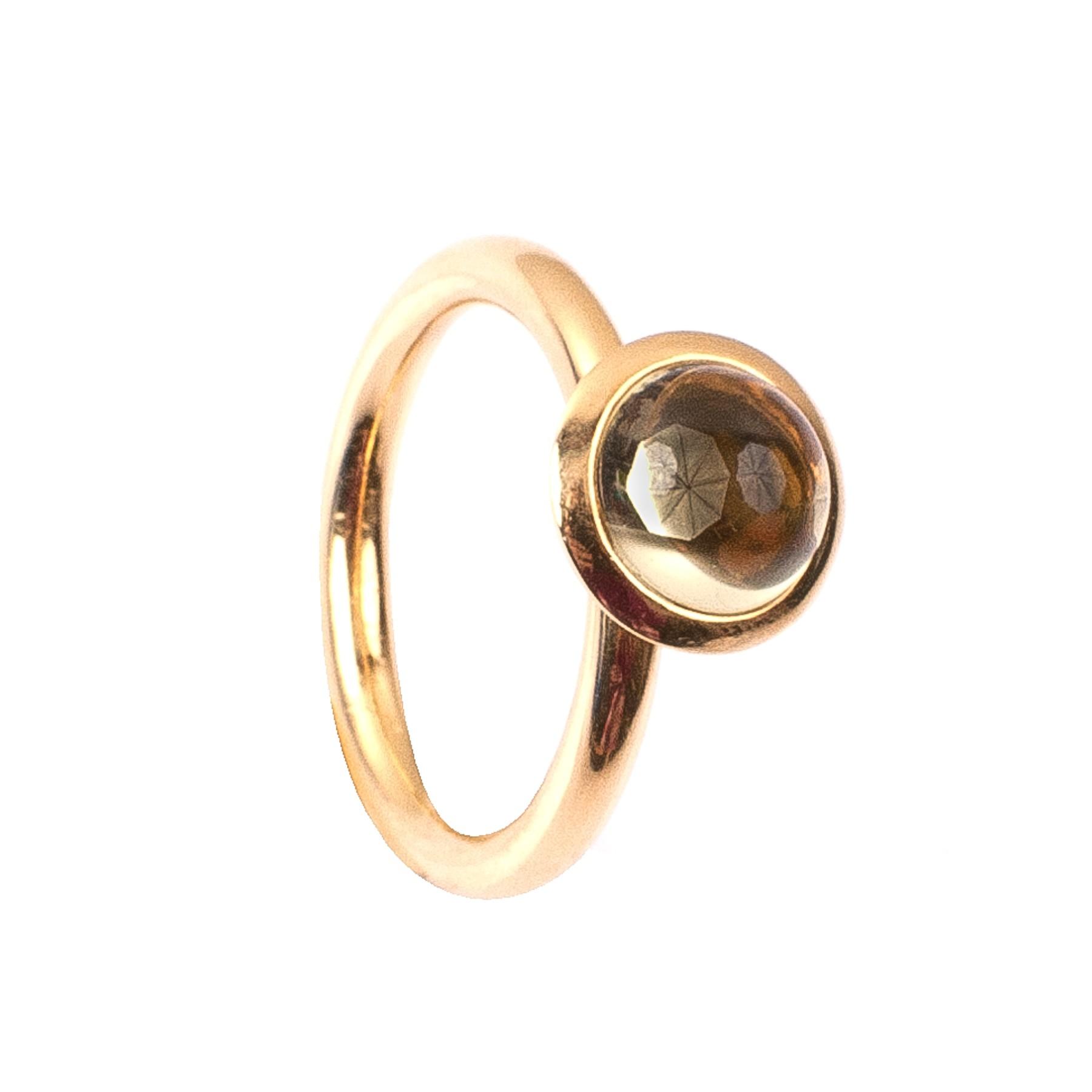 1,94CT Citrin Gelb Kuppel Ring