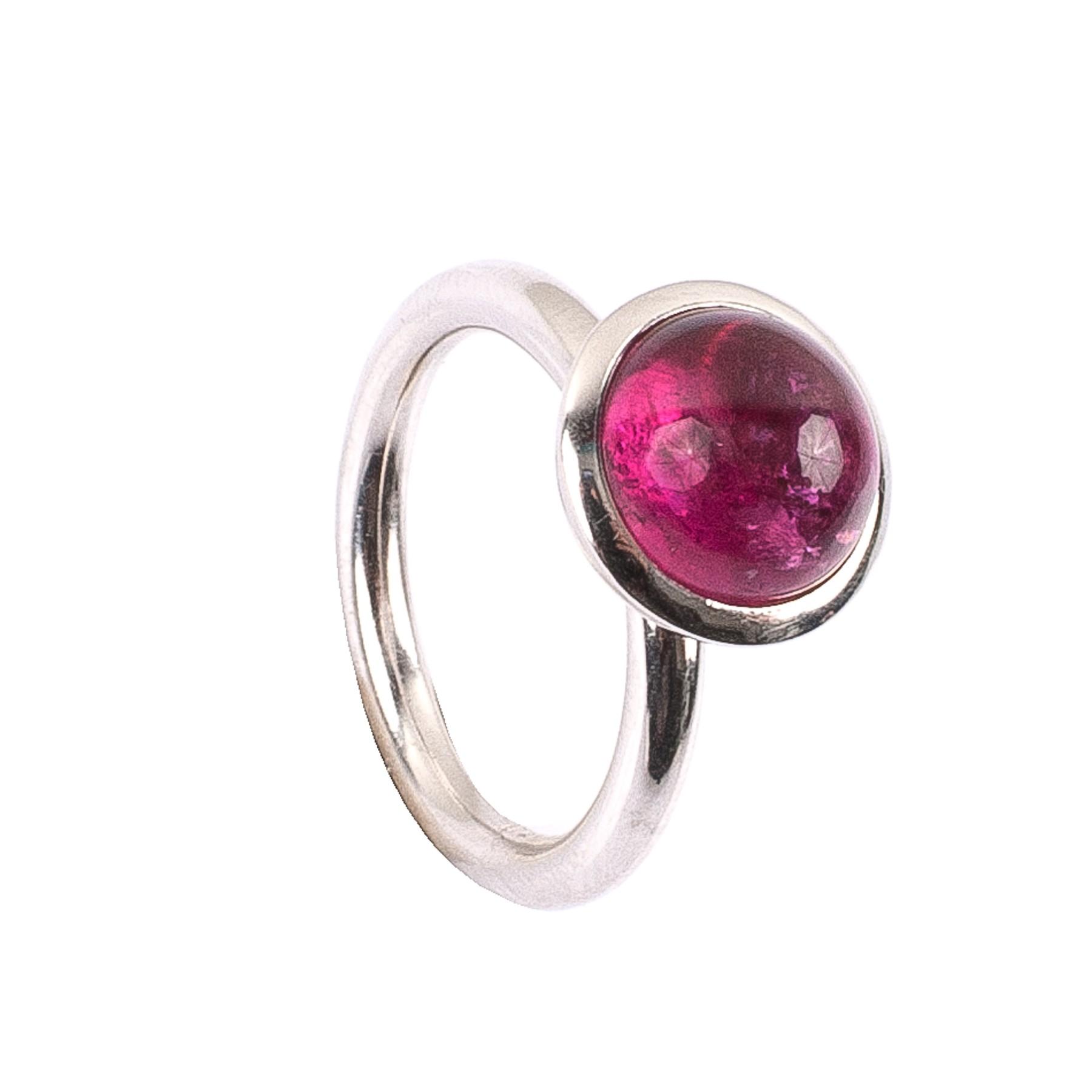 4,33CT Rubellit Turmalin Kuppel Ring