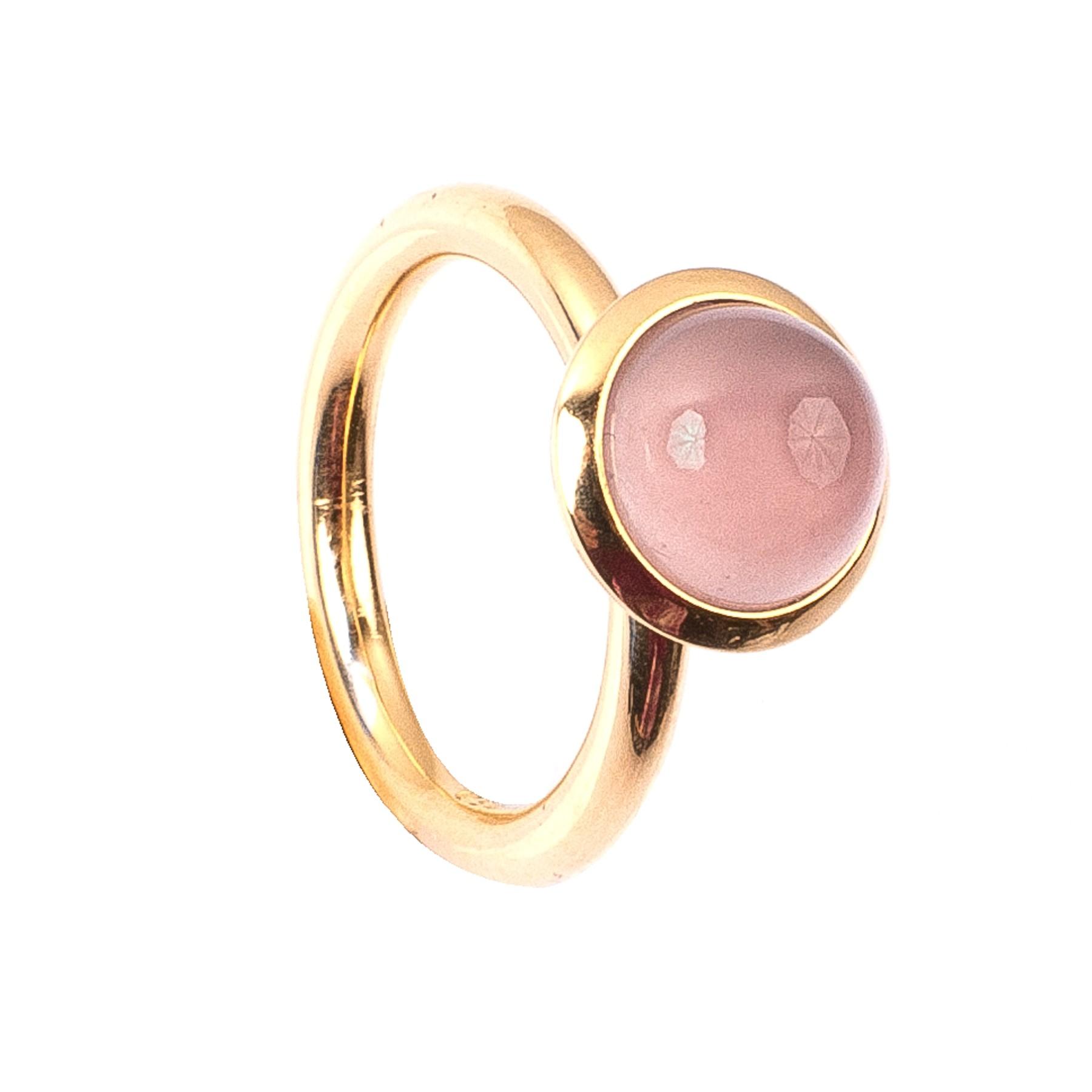 2,89CT Rosenquarz Kuppel Ring