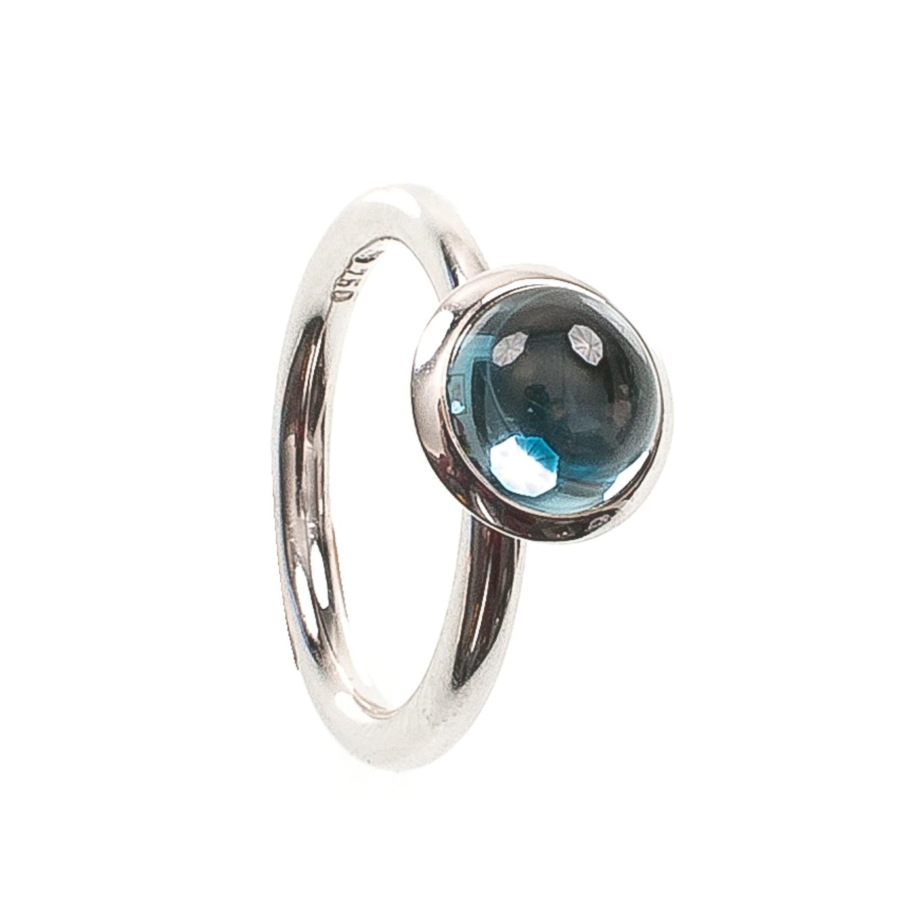 3,20CT Topas Blau Kuppel Ring
