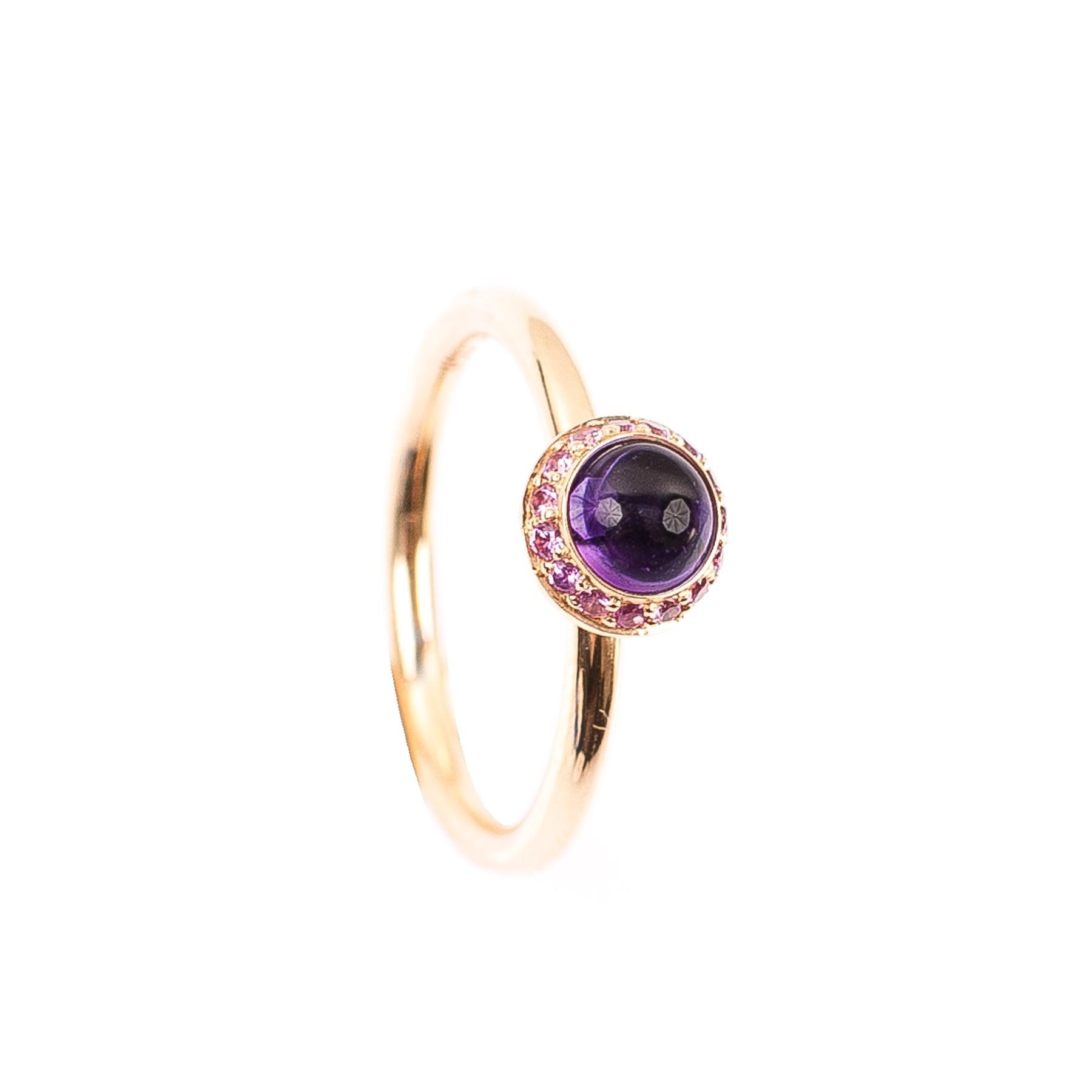 0,55CT Amethyst Ring