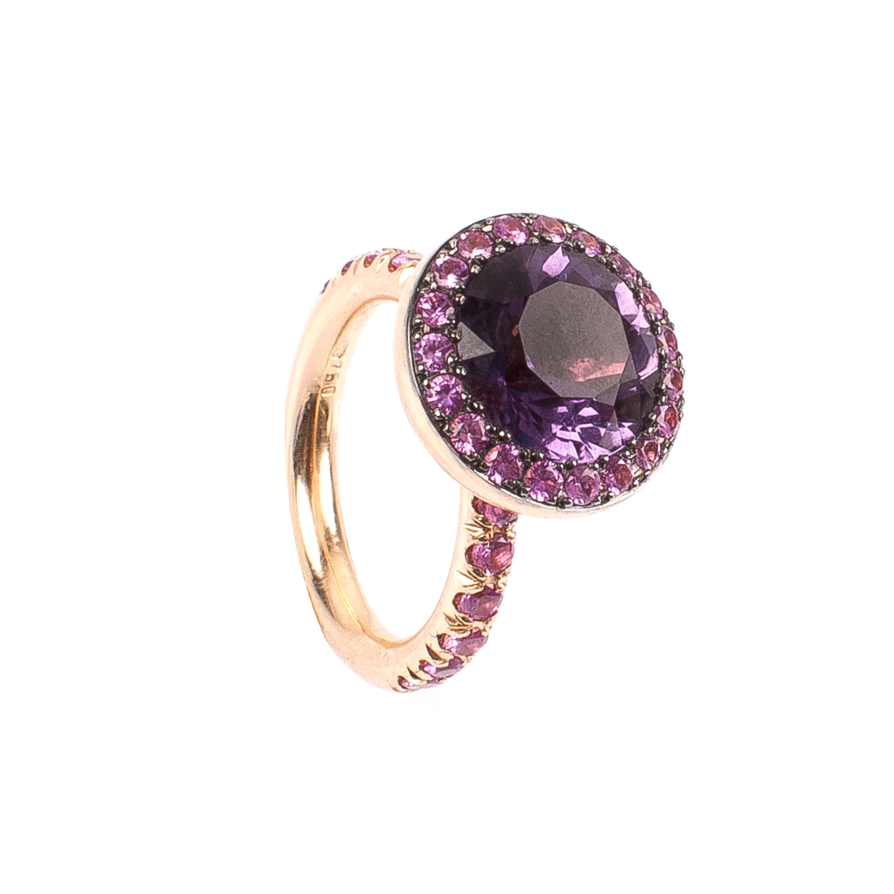 "4,21CT Amethyst Ring ""Venezia"""