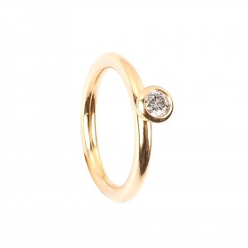 0,20CT Diamant Ring TW/VSI