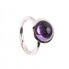 4,63CT Amethyst Kuppel Ring