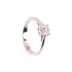 0,18CT Diamant Ring TW/VVSI