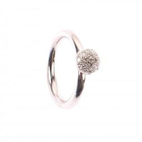 0,18CT Blumen Diamant Ring TW/VSI