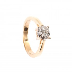 0,30CT Diamant Ring TW/VSI