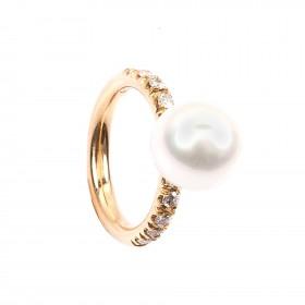 Perlenring Südsee-Perle