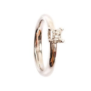 0,34CT Diamant Solitär Ring TW/VVSI