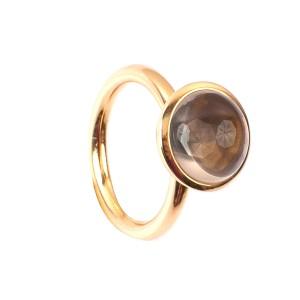 4,58CT Rauchquarz Kuppel Ring