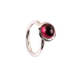 3,81CT Rhodolith Gruppe Granat Kuppel Ring