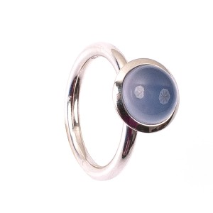 2,99CT Chalcedon Kuppel Ring