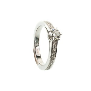 0,56CT Diamantring TW/VSI