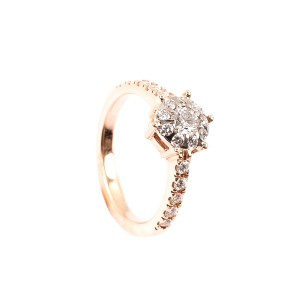 0,70CT Diamant Ring TW/VSI