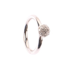 0,18CT Blumen Diamant Ring TW/VSI