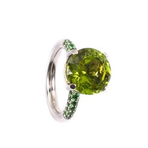 6,74CT Peridot Ring