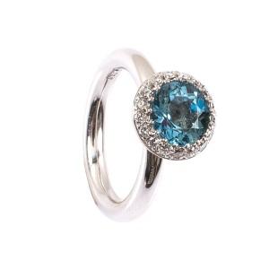 1,88CT Aquamarin Ring