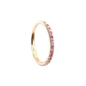 FLORA Reihenring Safir Pink 124/41