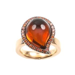8,68CT Citrin Orange Ring