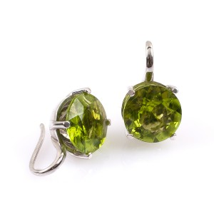 10,09CT Peridot Ohrringe
