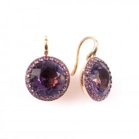 """9,57CT Amethyst earrings """"Venezia"""""""