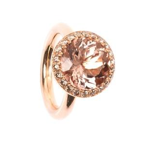 5,81CT Morganit Ring