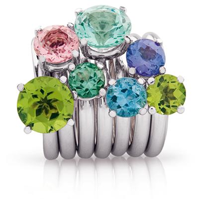 Warm leuchtende Edelsteine in frischem Design aus unserer Kollektion Farbenfroh